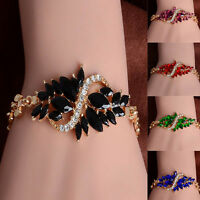 Fashion Jewelry Yellow Gold Filled Austrian Crystal Exaggeration Bracelet Chain