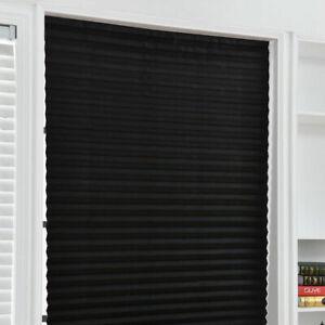 Self Adhesive Curtain Pleated Blind Office Kitchen Balcony Door Window Shades