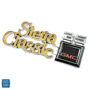 1977-1980 GMC Sierra Classic 35 New Fender Emblem GM 351835 EA Limited Stock