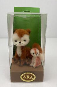 Vintage ARA Little Wool German Foxes Nib