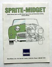 SPRITE-MIDGET Spare Parts & Restoration CATALOG Edition-SPM-03 from MOSS Motors