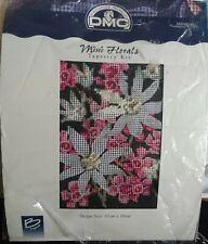 DMC Mini Florals TAPESTRY STITCH KIT 'FLANNEL FLOWERS' - 11cm x 16cm - STARTED