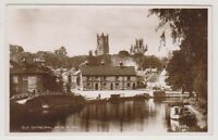 Cambridgeshire postcard - Ely Cathedral from River - RP (A109)