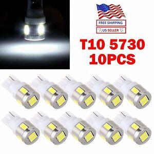 JDM ASTAR 10x T10 White 5730 SMD LED License Dome Marker Lights Bulbs 194 168