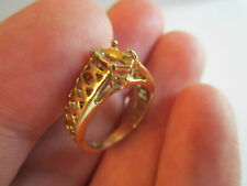 18K GOLD FILLED (GF) SETTING RING - NO STONE - SIZE 5 1/2  - TUB BN-1