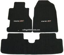 2002-2005 Genuine Honda Civic Si Black Carpet Floor Mats - 08P15-S5T-111