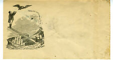 "1860s Civil War Patriotic Cover Man to Eagle "" Catch Him,Catch Him.."""