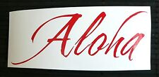 adesivo Aloha Hawaii spiagge sticker decal vynil moto auto vetro mare sea sole