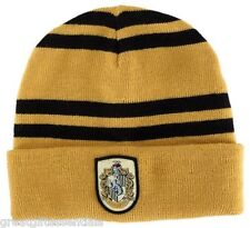 Harry Potter Hufflepuff House Beanie Hat Cap w/ Crest Patch Hogwarts Licensed