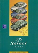 Peugeot 306 Select Limited Editions 1995 UK Market Sales Brochure XR XRD XS SLDT