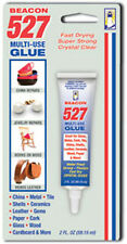 Beacon 527 MULTI-USE GLUE~FAST DRY~CLEAR~STRONG~For GLASS, METAL, LEATHER, WOOD+