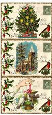 SET OF 9 CHRISTMAS VINTAGE REPLICA (05) SCRAPBOOK EMBELLISHMENTS HANG/GIFT TAGS