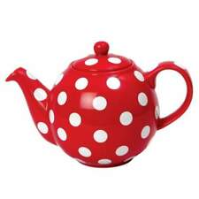 London Pottery 17267250 Globe Teapot Red and White Spot 2 Cup