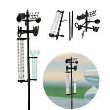 Garden Outdoor Weather Station Meteorological Measurer Vane Tool Wind Rain Gauge