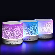 Mini Portable Wireless Led Lights Speaker SUPER BASS Sound For Smartphone Tablet