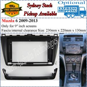 For 9 Nine Inch Screen Fascia facia Fits Mazda 6 2008-2012
