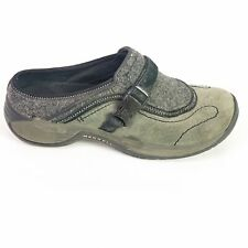 Merrell Encore SideStep Mules Gray Suede Wool Slip On Clogs Womens Size 8.5