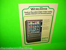SNACK 25 VENDOR By WURLITZER ORIGINAL NOS FOOD SNACK VENDING MACHINE SALES FLYER