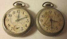 2Pc Westclox Scotty Pocket Watch Shock Resistant US Made Model 90001 for Parts