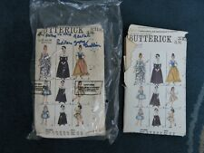 2 X VINTAGE SEWING PATTERNS BUTTERICK 3318. PILGRIM, GYPSY. DUTCH. SIZE 12 & 16