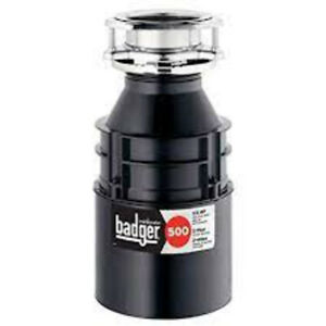 NEW InSinkErator Badger 500 1/2 HP Continuous Feed Garbage Disposal