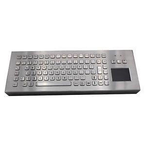 Desk Metal Kiosk Keyboard with Touchpad 86Keys Industrial Desktop Keyboard