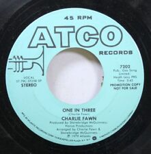 Rock Promo 45 Charlie Fawn - One In Three / One In Three On Atco Records