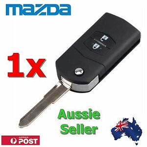 Mazda 2 Button Remote Flip Key Shell Mazda 2  3  5  6 RX7  RX8 BT50 - With Logo