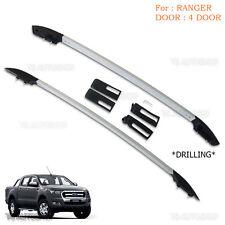 Fits Ford Ranger T6 Mk2 Xlt Ute Wildtrak 4Dr 12-17 Aluminum Real Roof Rack Bar