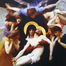 TEX icône religieuse originale ex Pieta couleur panneau coussin devant