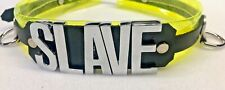 Fluorescent vinyl & Leather collar HUGE letters!  DADDY's GIRL any word