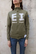 EI Esercito Italiano Army Italy  Zip Cardigan Jacket Khaki Top Casuals Stretch M