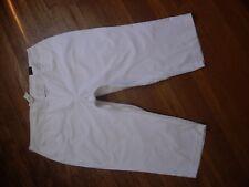 NWT WOMENS LANE BRYANT TOTALLY CROPPED WHITE STRETCH CAPRI PANTS PLUS SIZE 24