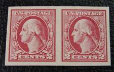 nystamps US Stamp # 532 Mint OG NH $160 Pair Washington
