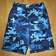 BNWT chicos Ralph Lauren Blue Camo Pantalones Cortos de Natación/troncos Talla Xl (12-13 Años)