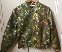 M&S Limited Edition - Green Floral Bomber Jacket SIZE 8 RRP £65