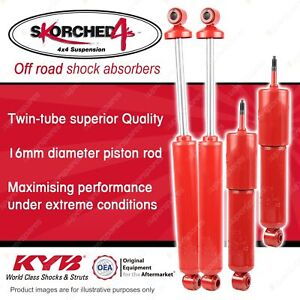 F + R KYB SKORCHED 4'S HD 4WD Shock Absorbers for NISSAN Navara D22 4WD RWD