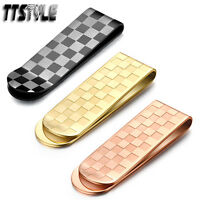 High Quality TTstyle 316L Stainless Steel Chessboard Money Clip Choose Colour