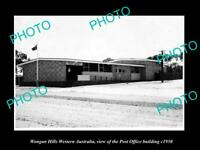 OLD 8x6 HISTORIC PHOTO OF WOOGAN HILLS WESTERN AUSTRALIA THE POST OFFICE 1950