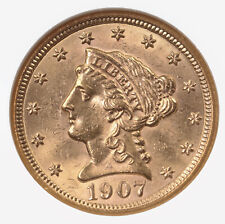 1907 Liberty $2.50 NGC Certified MS63 US Minted Gold Coin