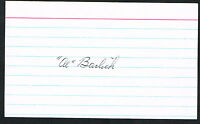 Al Barlick (d. 1995) signed autograph auto 3x5 index card Baseball Umpire F1102