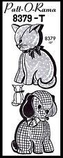 Pattern Fabric Sewing Stuffed Animals Toy DOG CAT Mail Order Patt-o-Rama #8379-T