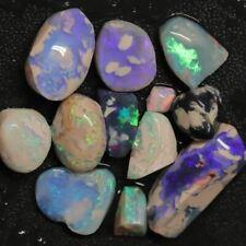 109.35 cts Australian Solid Black Opal Rough Parcel, Lightning Ridge Stones