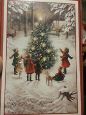 American Greetings Tree Decorating Boxed Christmas Cards 16 count