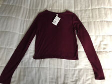 Womens H&M Burgundy Tip Size Extra Small New With Tags