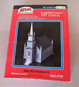 Atlas HO Scale 19th Century American Church Building Kit #708 New & Sealed