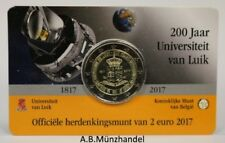 """Coincard Belgien 2017 2 Euro """"200 Jahre Universität Lüttich"""" - unsere Wahl"""