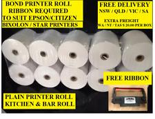 50. 76 x 76 1 PLY  POS PRINTER ROLLS  ( FREE SHIPPING NSW, SA, VIC, QLD )