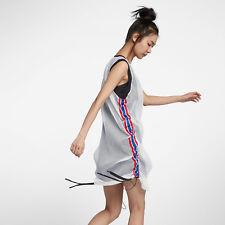 Nike x RT Women's Jersey Tisci Dress M White Red Blue Casual Training New
