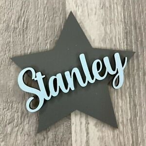 *ANY NAME & COLOUR* Personalised painted wooden star with script name
